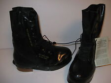 GENUINE US MILITARY COLD WEATHER MICKEY MOUSE BLACK RUBBER BOOTS 8 WIDE NEW NOS