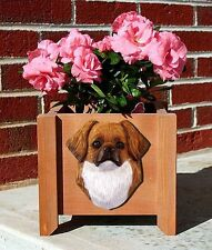 Tibetan Spaniel Planter Flower Pot Red