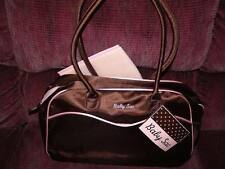 BABY SAC MEDIUM SIZE BROWN WITH PINK TRIM DIAPER BAG NEW WITH TAG