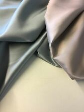 New Shot Two Tone Sliver Blue & Pink 100% Silk Dupion Slub Satin Fabric HALF MTR