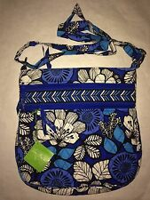 Vera Bradley BLUE BAYOU TRIPLE ZIP HIPSTER Bag Cross Body NWT