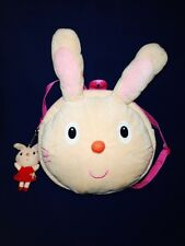 Back Pack Bag La Zoo Rabbit  Kids Head with key chain Pre-owned