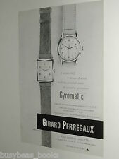 1951 Girard Perregaux Watch advert page, Gyromatic wristwatches