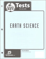 BJU Press Earth Science Tests Answer Key - 271536