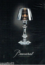 PUBLICITE ADVERTISING 115  2007  CRISTAL BACCARAT par PH STARCK collection LUMIE