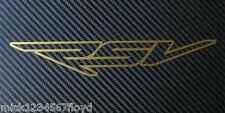 Aprilia RSV umriss gold matt aufkleber, benutzerdefinierte grafiken aufkleber x