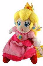 "Nintendo Super Mario Brothers Princess Peach 8"" Stuffed Toy Plush Doll"
