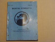 Mortal Kombat 2 Video Arcade Game Service Manual Set, Atlanta (8222)