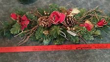 Holiday Rose & Pine Swag Home Interiors & Gifts