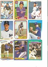 18 CARD SCOTT SANDERSON BASEBALL CARD LOT            37