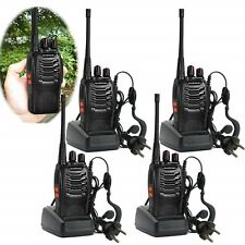 4x Baofeng Walkie Talkie Long Range 2 way Radio UHF 400-470MHZ 16CH Earpiece UK