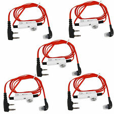 5pcs Red 2 PIN Earpiece Headset For QUANSHENG BAOFENG 888S KENWOOD WOUXUN +track