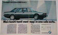 Advert Pubblicità Auto 1981 BMW 518 520i 525i 528i SERIE 5 E28
