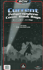 100 BCW Current Comic Book Bags
