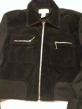 Cache Leather Suede and Polyester Jacket Coat Size Small black Womens