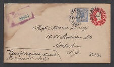 US Sc F1 on 1913 Registered Envelope to Hoboken, NJ