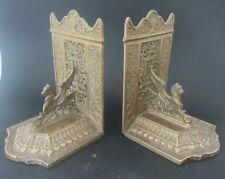 SERRE LIVRES EN laiton brass BOOKENDS sphinx egyptian