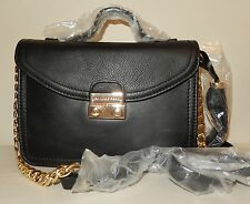 New Isaac Mizrahi Live! Bridgehampton Leather Mini Shoulder Bag in Black