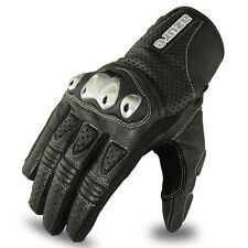 Motocross Gloves Racing Off Road Enduro MotorBike TPU Knuckle Leather 1686 S Blk