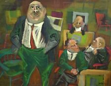 William Gropper Listed American Oil Canvas NYC Senate Political WPA Modernist