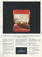 ▬► PUBLICITE ADVERTISING AD Montre Watch OMEGA Ladymatic 1962