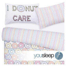 Duvet Cover Bedding Set Modern Kids Contemporary- I DoNut Care - Size Single Bed