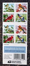 2016USA Forever - Songbirds in the Snow - Booklet of 20  Mint birds cardinal
