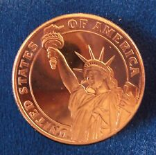 1oz COPPER STATUE OF LIBERTY COIN .999 COPPER ROUNDS BULLION OZ