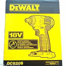 "NEW IN RETAIL BOX Dewalt DC820 18V 1/2"" Cordless Impact Wrench 18 Volt"