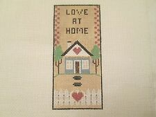 LOVE AT HOME-REBECCA-HANDPAINTED NEEDLEPOINT CANVAS
