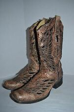Corral WOMEN Bronze/Black Sequins & Crystal Butterfly WESTERN 8.5 M  Boot R1226
