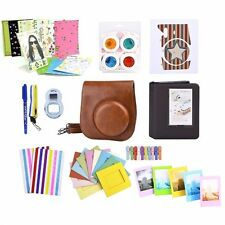 11 in 1 Instant Camera Accessories Bundles Set for Fujifilm Instax Mini 8 Brown