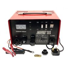 Maypole 20 A Amp Battery Charger 12 & 24 V Volt  MP730 Metal Cased Car Tractor