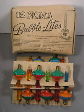 Boxed Noma Bubble Lites Lights Christmas Vintage Old Antique Tree Bulbs Box