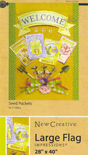 IMPRESSIONS Garden Flag SEED PACKETS 28 x 40 NEW!