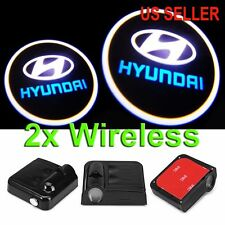 2X Wireless LED Car Door Laser Welcome Courtesy Ghost Lights for HYUNDAI