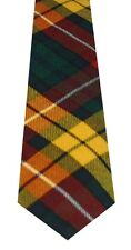 Mens Clan Tartan Tie Buchanan Modern 100% Wool Lochcarron of Scotland Brand New