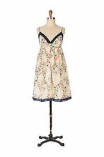 "Very Rare Anthropologie Silk Cotton ""Ana Maria Babydoll"" Dress M"