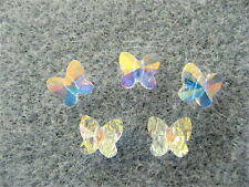 8 Crystal AB Swarovski Crystal Butterfly Beads 5754 6mm