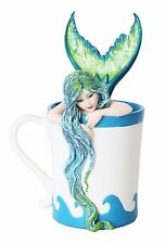 Morning Bliss Mermaid in the Cup Lovely Statue Figurine.Amy Brown Licensed Art