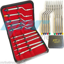 YNR® Dental Osteotomes for Sinus Lift Concave Tip STRAIGHT & ANGLED 10pcs Set CE