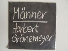 """HERBERT GRÖNEMEYER - Männer / Amerika 7"""" Vinyl SINGLE - EMI 1C 006 1469067"""