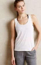 NWT Anthropologie ONZIE Essential V-Back Tank Top Yoga Fitness Ivory One Size