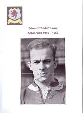 EDDIE LOWE ASTON VILLA 1946-1950 RARE ORIGINAL HAND SIGNED PICTURE CUTTING