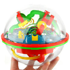 3D Spherical Maze Intellect Ball Balance Game and Puzzle Kids Toy(75 Barriers )