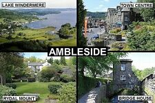SOUVENIR FRIDGE MAGNET of AMBLESIDE CUMBRIA