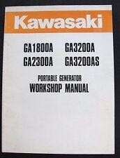 KAWASAKI GA1800A GA2300A GA3200A GA3200AS GENERATOR SERVICE REPAIR MANUAL