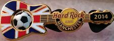 Hard Rock Cafe MANCHESTER 2014 Soccer Flag GUITAR Series PIN Ball Spins #76845