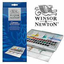 Winsor & Newton Cotman 45 full colour Demi Pan studio peinture aquarelle set