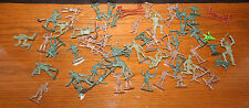 VTG 1960s Lot of 61 Toy Soldiers Army Men Soldiers Marx? Greenbriar